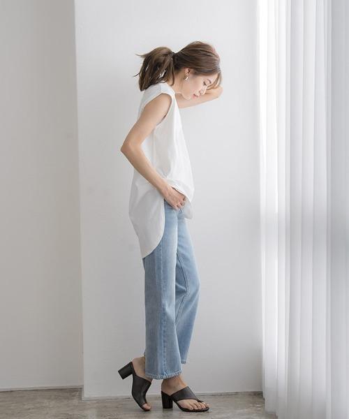 [Pierrot] ボックスシルエットTシャツ