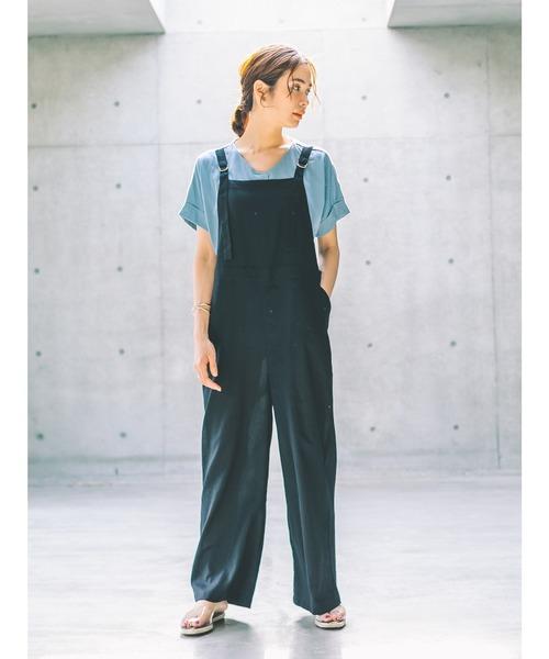 [koe] 綿麻サロペット*