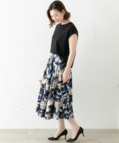 [URBAN RESEARCH ROSSO WOMEN] フラワープリントスカート