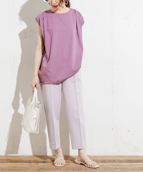 [natural couture] 【WEB限定】プチプラ美シルエットテーパードXSサイズ