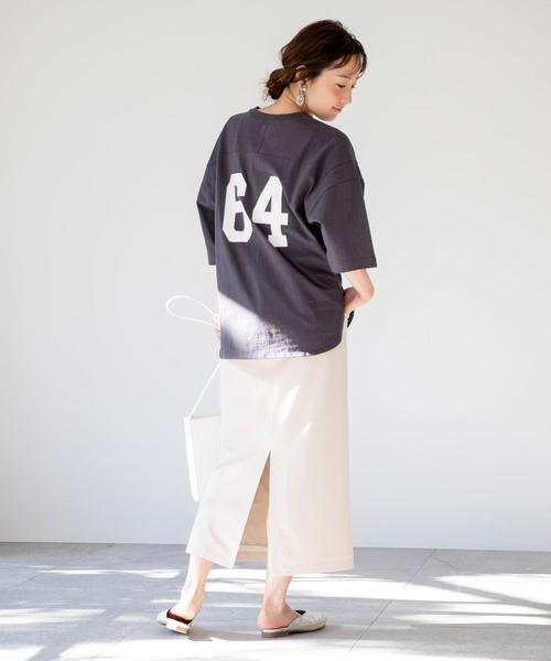[coen] 【WEB限定】カラーペンシルスカート(カラースカート/タイトスカート/ロングスカート / ストレッチ)#