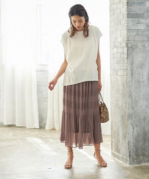 [ur's] マジョリカプリーツナロースカート