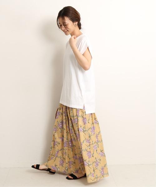 [IENA] Lilasプリントギャザースカート◆