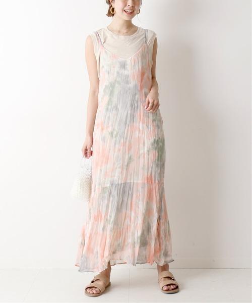 [Spick & Span] タイダイキャミドレス◆