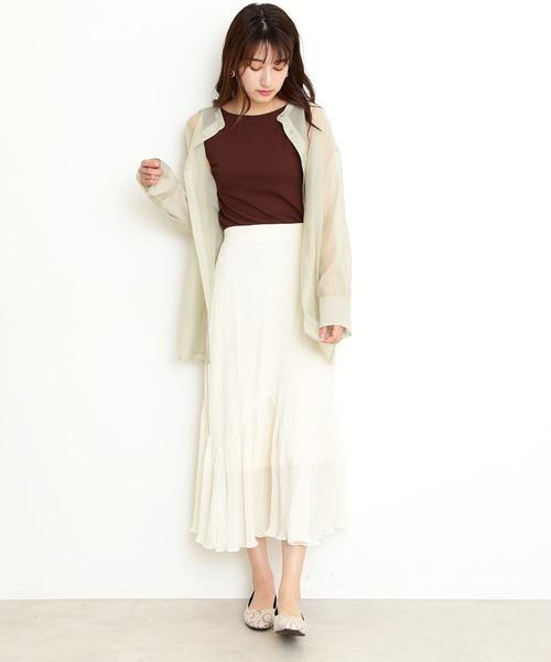 [N.(N. Natural Beauty Basic)] 楊柳マキシスカート