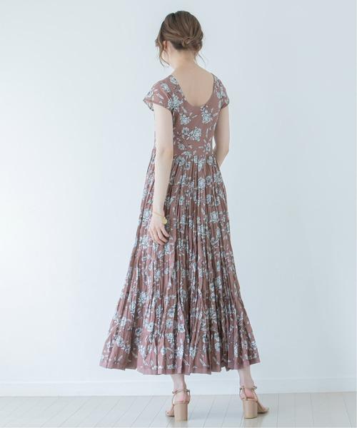 [Spick & Span] 《WEB・一部店舗限定》【MARIHA】 草原の虹のドレス(Big Bouquet)◆