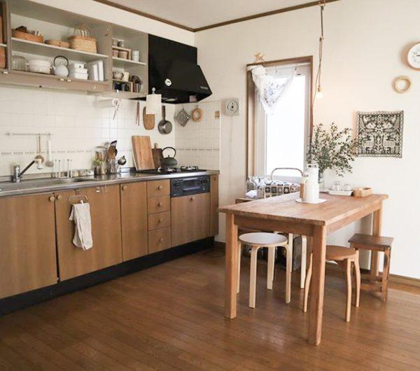 大きな家具は置かない。家族で暮らす12畳のLDK1
