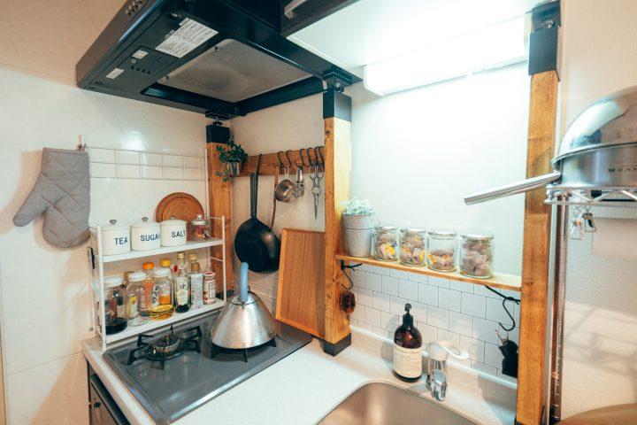 キッチンツールは吊るす収納