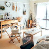 DIYとハンドメイドの作品が愛着と統一感をつくる。1K一人暮らしのインテリア