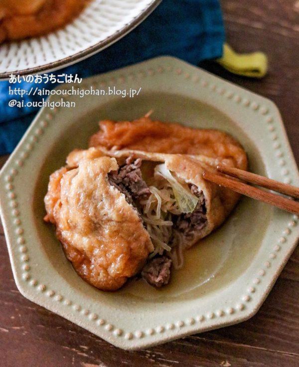簡単牛肉のすき焼き袋煮