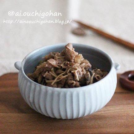 牛肉とたっぷりきのこの簡単しぐれ煮