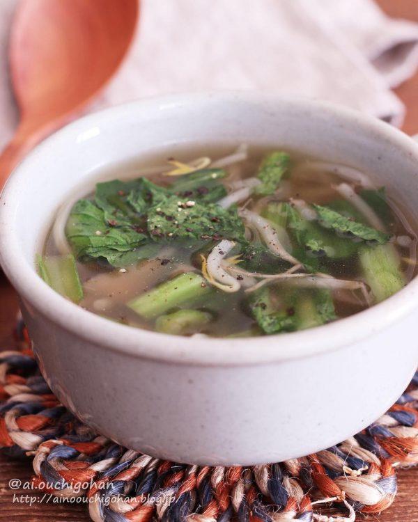 簡単人気!ザーサイと小松菜の中華スープ