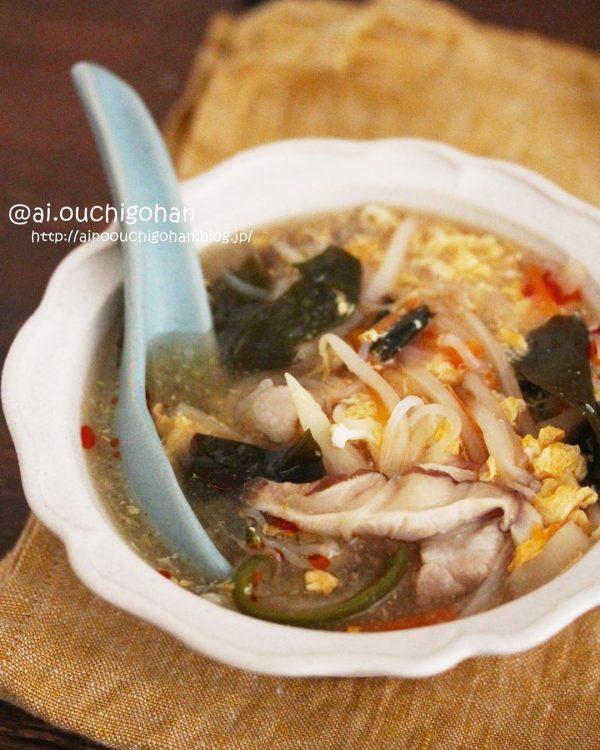 人気のヘルシー中華スープ!しらたき酸辣湯
