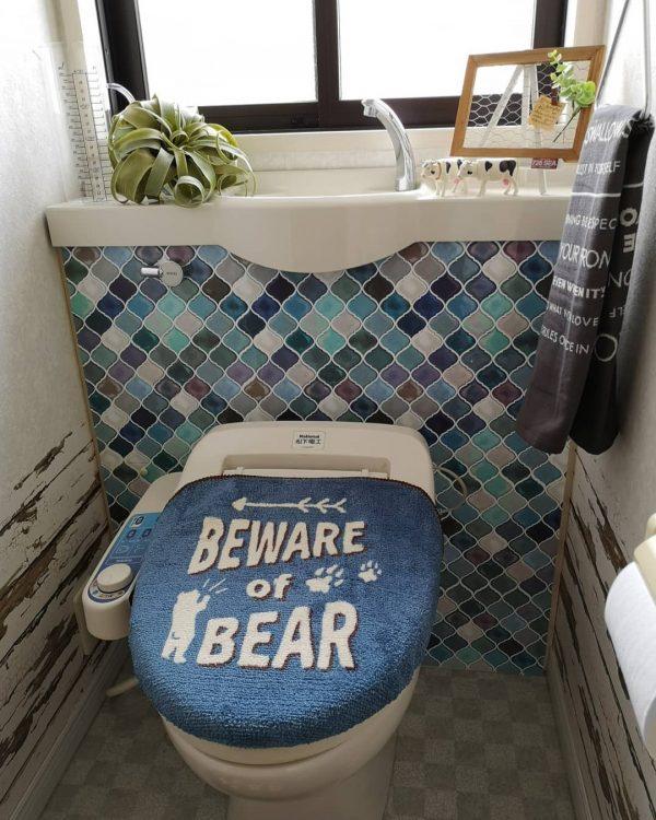 タイル風シールを使ったDIYトイレ