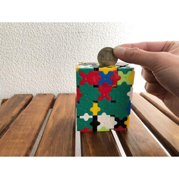 ブロックで作る貯金箱