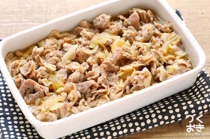 お弁当に簡単な煮物!人気の豚こましぐれ煮