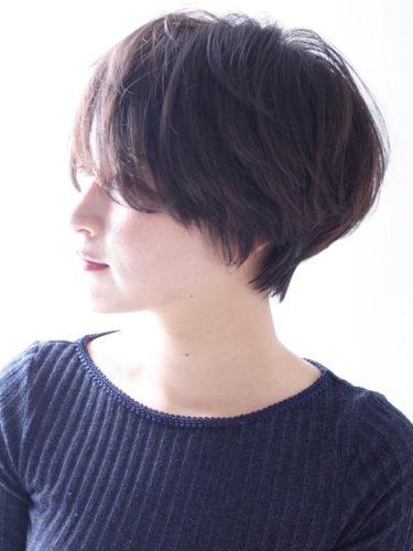 マッシュ系ショートボブ×黒髪