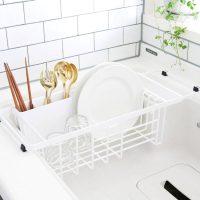 もっと快適な食器洗いに!2層構造の「伸縮水切りワイヤーバスケット」