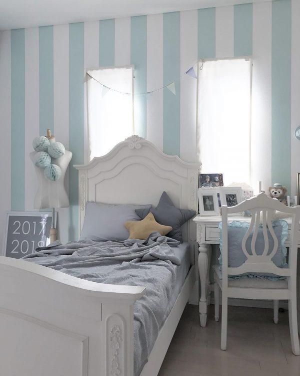 清涼感ある可愛い子供部屋