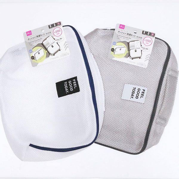 マチ付きで容量のあるクッション洗濯ネットBOX型