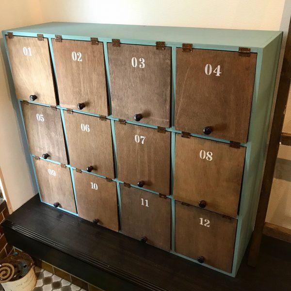 靴箱DIYアイデア《ペイント》2