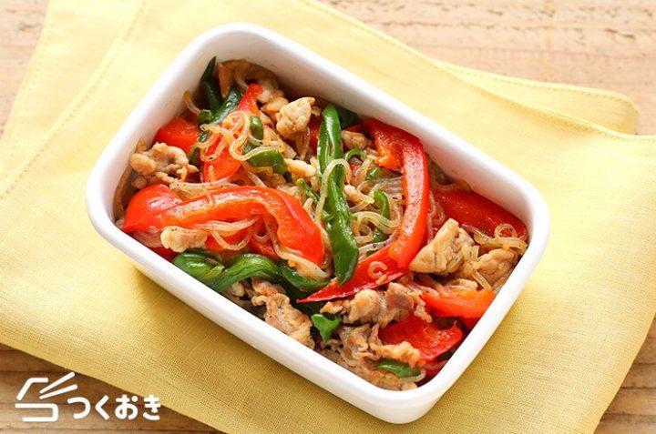 簡単な和食に!しらたきと野菜の炒め物