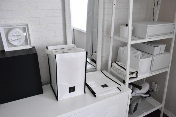 トイレ消耗品のストックはパッケージから出して