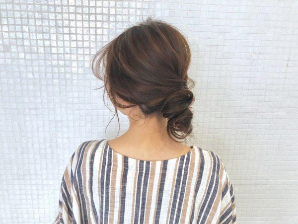 50代の和装に似合う髪型《ロング》