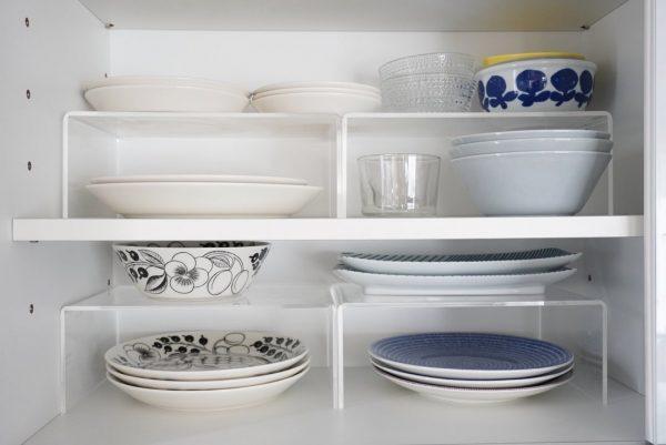 食器棚は見やすさと整理しやすさを意識する