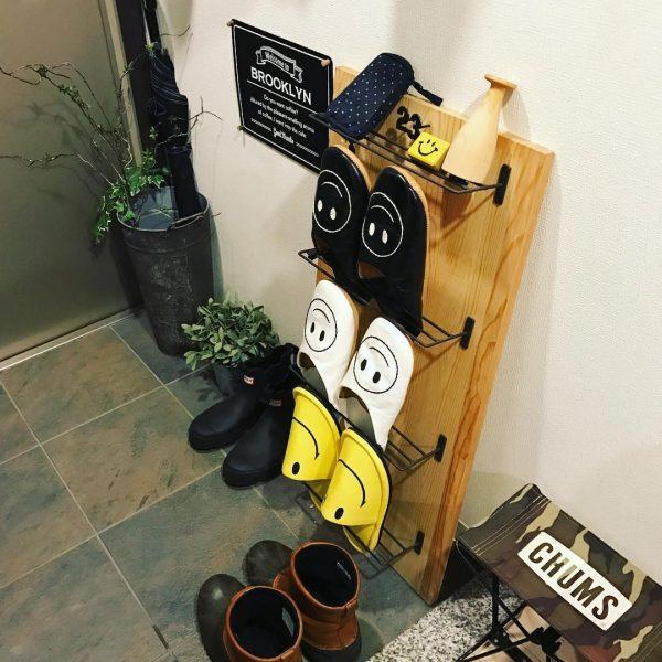 靴箱DIYアイデア《スリッパラック》3