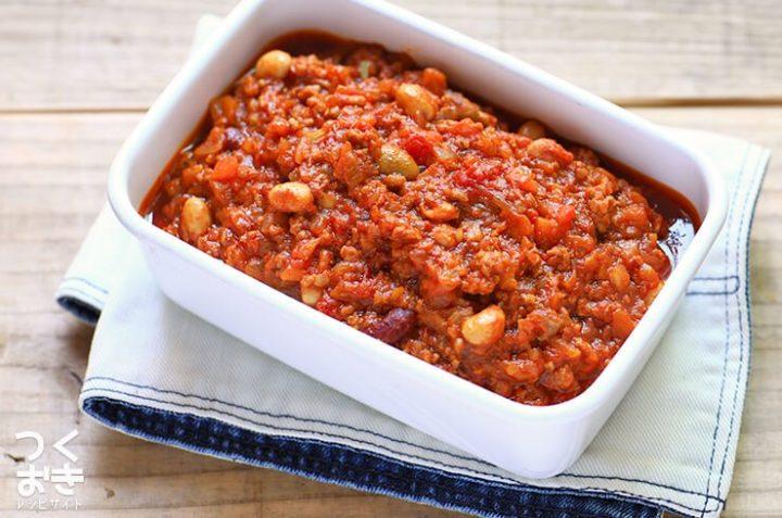 野菜と豆がたっぷりの簡単キーマカレー