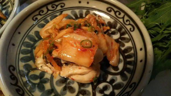 おつまみにおすすめ簡単レシピ!牡蠣のキムチ和え