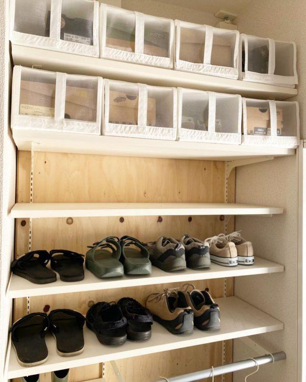 靴箱をスッキリ整頓できる
