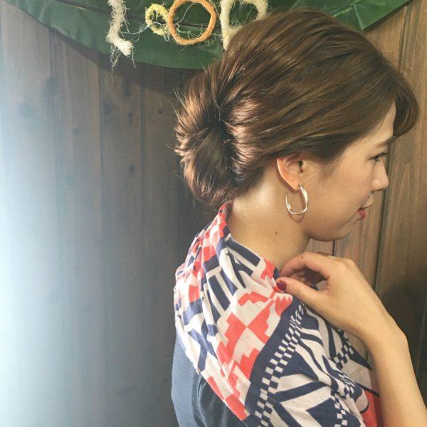 50代の和装に似合う髪型《ロング》2