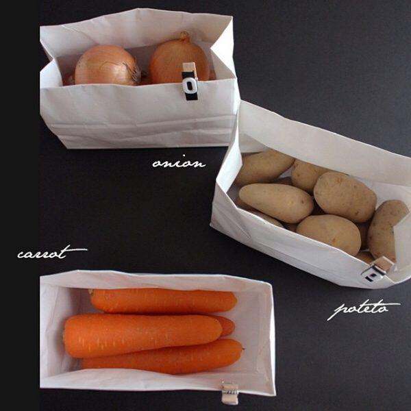 根菜は紙袋で収納