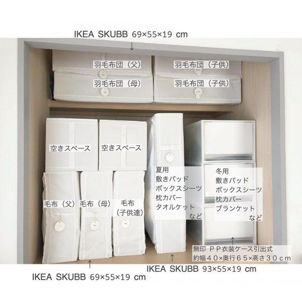 IKEA《SKUBB》を使った押入れ収納2