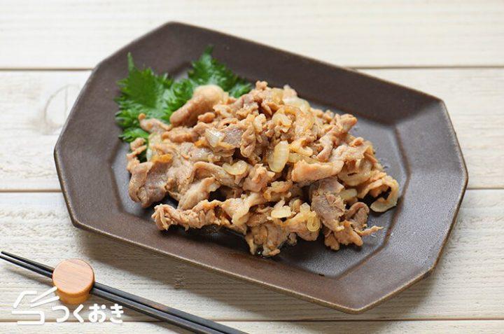豚こまの美味しいお弁当に!簡単な味噌豚