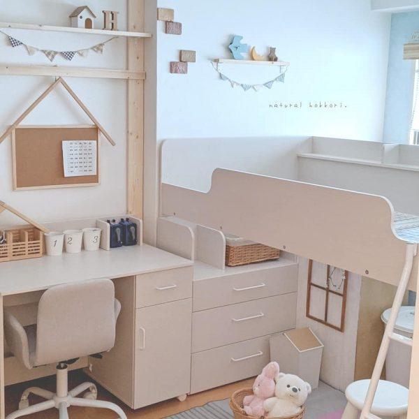 システム家具で工夫☆子供部屋インテリア