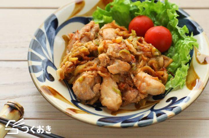 人気の作り置きレシピ!長ネギ味噌焼き鳥