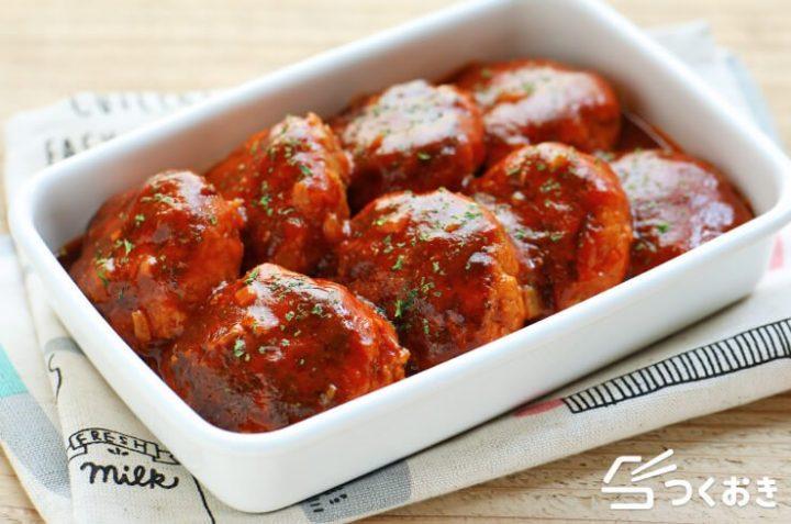 豚ひき肉で美味しい料理!簡単煮込みハンバーグ
