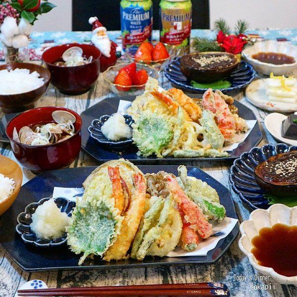 野菜たっぷり献立に!天ぷら