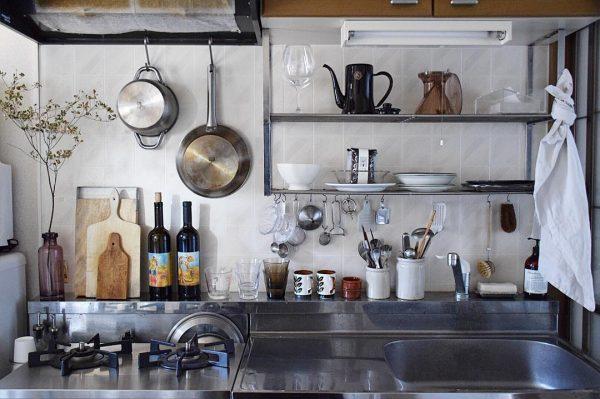 見せる収納がお洒落なキッチン