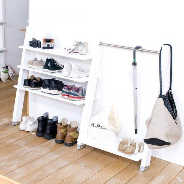 靴箱DIYアイデア《ラダーシェルフ》2