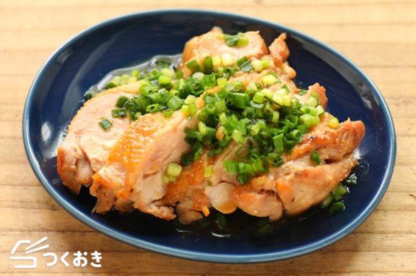 簡単な和食に!絶品茹で鶏肉の梅肉ポン酢8