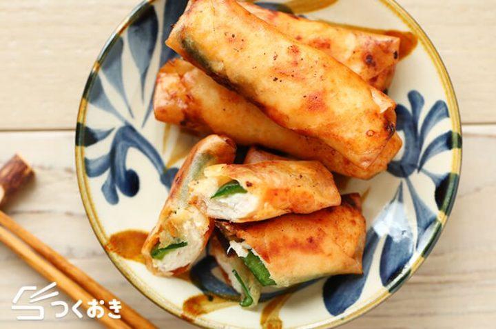 中華のレシピに!ささみときゅうりのミニ春巻き