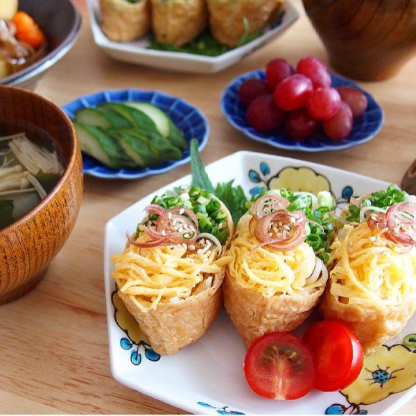 冷たいアレンジ麺レシピ!いなり素麺
