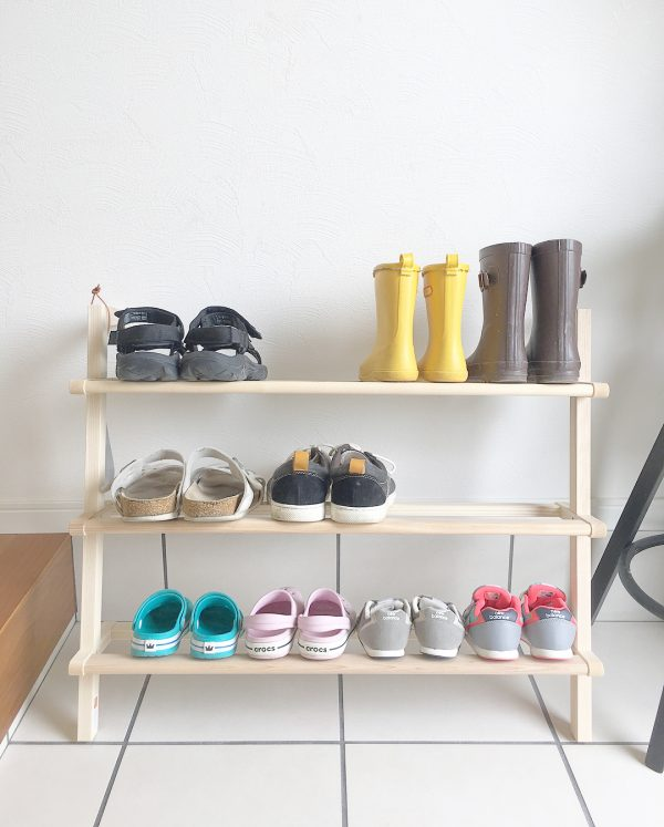 靴箱DIYアイデア《ラダーシェルフ》3