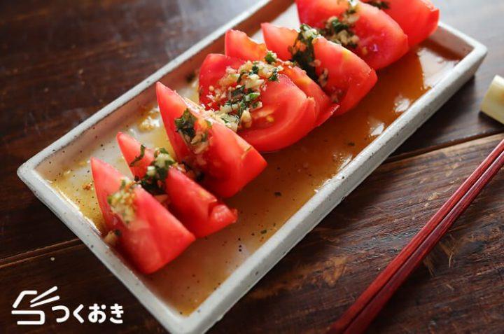 簡単副菜レシピ!トマトの香味だれ