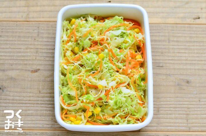 話題のレシピ!漬けておくだけサラダ