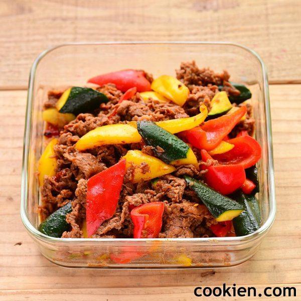 夏野菜と牛肉の韓国風炒め